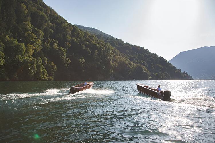 Boating on Lake Como