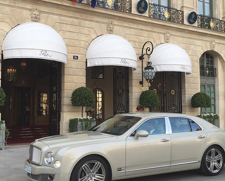 Outside the Ritz, Paris