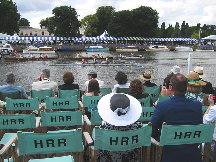 Spectators watching the Henley Royal Regatta during the Season