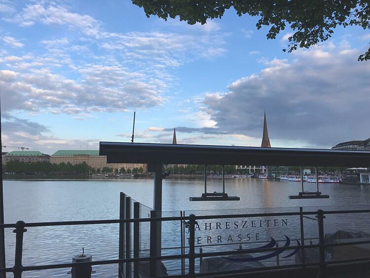 View across the Binnenalster, Hamburg